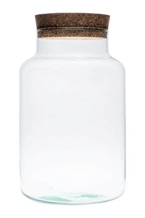 Rechtopstaande vaas met kurk H35 – B19